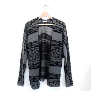 O'Neill Black Tribal Open Front Cardigan